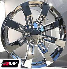 "22"" inch 22 x9"" Wheels for Chevy Avalanche Chrome Rims Denali CK375"