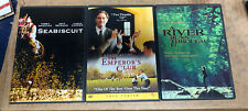 Lot of 3 DVD's: Seabiscuit/ The Emperors Club/ A River Runs Through It #48