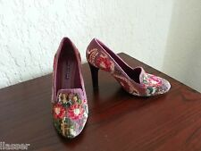 Ralph Lauren Collection Floral Needlepoint Shoes, size 39 8.5 / 9