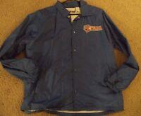 Vintage Mens Jerzees Jacket MATCO TOOLS RACING Medium Blue Fleece Lined