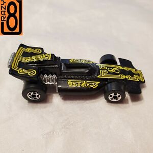 HWBW6 Hot Wheels Blackwall 1978 Formula P.A.C.K. (PACK) Black/Yellow HK Nr-Mint