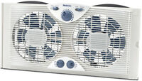 New Holmes Dual Blade Window Fan with Comfort Control Thermostat (Hawf2041-N)
