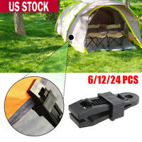 24 Pieces Heavy Duty Tarp Clips Clamps Great for Camping Canopies Tents Canvas