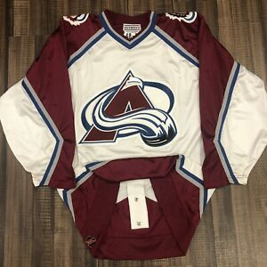 Starter Authentic Colorado Avalanche Mesh NHL Hockey Jersey Vintage White 48
