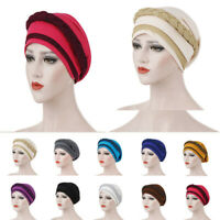 Cancer Cover​ Turban Headwear Muslim Hat Wrap Hijab Cap Women Braid Chemo Head