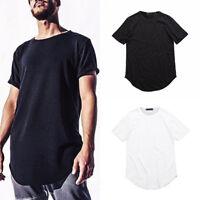 Hombre Informal A La Moda Color Sólido Manga Corta Holgado Camisa De Algodón