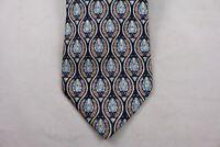 Ermenegildo Zegna Necktie Italian Pure Silk Blue Paisley Tie