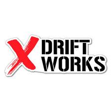 DRIFT WORKS JDM Car Sticker Decal Car Drift Turbo Euro Fast Vinyl #0983JT