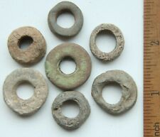Group Of Tin Lead Spindle Whorls