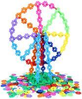 300Pcs Plastic Snowflake Building Blocks Puzzle Baby Kids DIY Educational Toys.