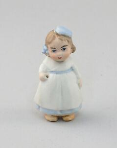 99810161 Ganzbiskuit- Porzellan Puppenstubenpuppe hanbemalt alt