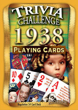 Flickback 1938 Trivia Playing Cards 80th Birthday or 80th Anniversary Gift