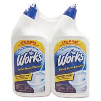 the Works Disinfectant Toilet Bowl Cleaner 32 oz Bottle 2/Pack 33302WK
