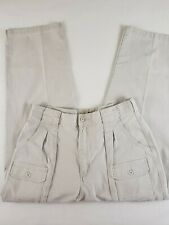 Cabelas Womens Size 14 7 Pocket Hiker Pants Beige Cotton Spandex Blend EUC