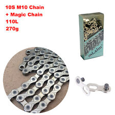 BMX MTB Bike 110L 10 Speed Chain Magic Button Fit for Shimano SRAM Chain Bicycle
