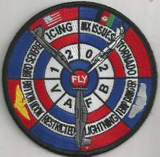 USAF VANCE AFB CLASS 12-02 PATCH -  'TORNADO'  1 OF 2 DESIGNS             COLOR