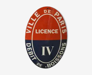 Plaque émaillée Licence IV PARIS