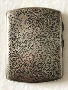 VINTAGE - STERLING SIVER CIGARETTE CASE