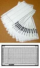 Pre Punched Card Set (15pcs) + 4 Snaps for Brother KH260 KH860 Silver Reed SK280