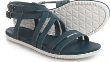 NEW TEVA STRAPPY SANDALS WOMENS 7.5 AVALINA CROSSOVER LEATHER BLUE FREE SHIP