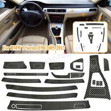 5D Interior Carbon Fiber Vinyl Trim Sticker Decal For BMW 3 Series E90 2005-2013