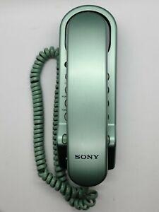 Vintage Sony IT-B3 Sea Foam Green Slim Design Single Line Corded Phone Rare