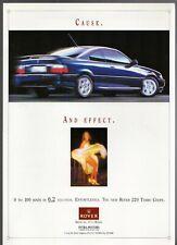 Rover 220 Turbo Coupe c1993 Singapore Market Launch Leaflet Sales Brochure