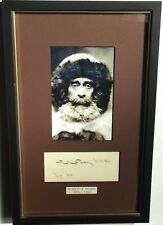 Robert Peary Polar Explorer, Naval Officer Autograph Display ''Rare'' Dated 1898