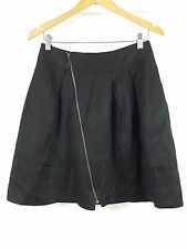 CUE sz 10 womens black skirt w/ zip detail