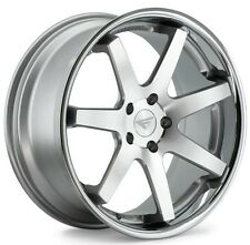 20x9/20x10.5 Ferrada FR1 5x120 +35/38 Machine Silver Wheels (Set of 4)