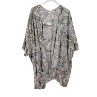 Do Everything in Love Womens Kimono Striped Top One Size Short Sleeve Open Front