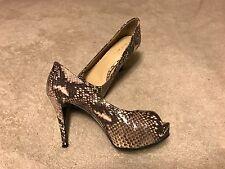 Woman's Nine West Snake Skin Open Toe Heels Sz 6.5M