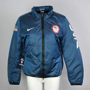 Nike Lab Team USA Olympic 2018 US Flag Summit Blue Jacket Women's Size Medium
