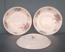 "Vintage Puritan China ""Melody"" Floral Saucer Plates Japan 5 1/2"" Set Of 3"