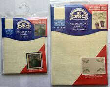 "VAT DMC 32 Count Large Cross Stitch Linen Fabric 712 Cream 20 X 27"""