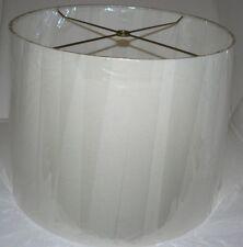 2 NEW Large Linen Lamp Shades 15 X 17 X 12  (Light Beige) SHAS-01-017