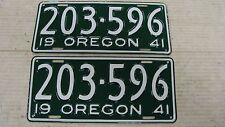 1941 Oregon Pair Restored License Plates # 203-596