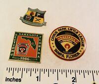 3 Little League Baseball PINs - FL - Section 4 - Citrus Park 1988 etc