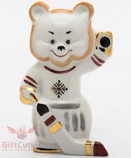 Russian Bear hockey player Dulevo porcelain figurine souvenir hand-painted