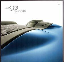 Saab 9-3 Convertible 2006-07 UK Market Sales Brochure Linear Vector Aero