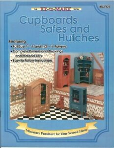 Dollhouse Miniature Cupboards Safes and Hutches Instructional Book BOY139