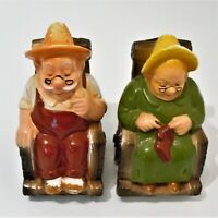 Grandma and Grandpa Banks Retirement Fund Sitting in Wheelchairs Vintage EUC