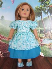 "homemade 18"" doll american girl/madame alexander promenade dress doll clothes"