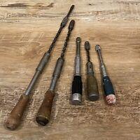 LOT Vintage Push Drills & Screwdrivers Stanley Yankee North Bros Millers Falls