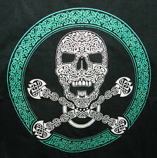 AWESOME NEW CELTIC SKULL T-SHIRT - SMALL! CELTIC KNOTWORK MADE IN USA