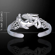 Whale .925 Sterling Silver Bangle Bracelet by Peter Stone