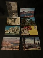 Lot Vintage Hoover  Dam Postcards Nevada Arizona 1931 Date Groves Laughlin