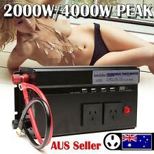 Car 2000W/4000Watt converter power inverter DC 12V to AC 240V invertor USB Ports