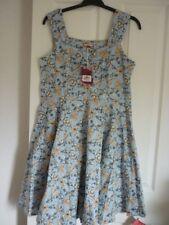 Joe Browns Delightful Summer Dress Blue Multi Floral. UK 16 EUR 42-44 US 12 BN