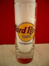 HRC Hard Rock Cafe Foxwoods Classic Logo Black Letter Shot Glass Schnapsglas New
